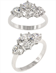 Classic Clear Triplet Ring from Zivori
