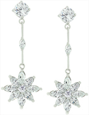 Star Zirconia Drop Earrings from Zivori